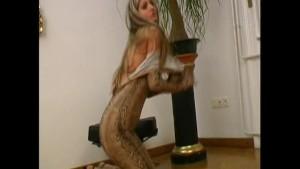 Crazy spandex girl spreading pussy (movie)