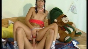 braided babe changes her mind about a jog (CLIP)