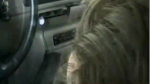 Real car handjob in amateur home movie