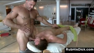 Gay bear massage guy sucks straight guy