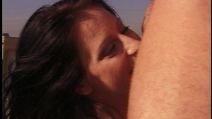 Liza Harper gets banged in the ass up on the roof