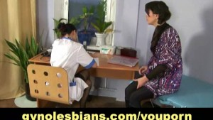 Medical check-up turns into lesbian action