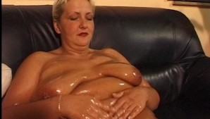 Oiled Up Granny