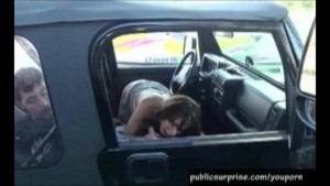 Naughty FrontSeat Sex Action In Public