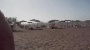 Beach handjob