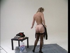 Blonde mature gives a show / Young brunette masturbates in back of moving v