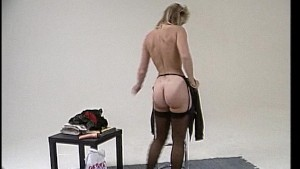 Blonde mature gives a show / Young brunette masturbates in back of moving van