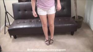 Cute amateur girl amazing cream pie video