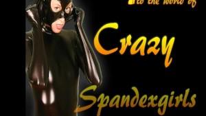 Crazyspandexgirl Ana in black nylon