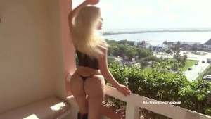 Ana Mancini on the Balcony