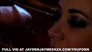 Jayden Jaymes in the kitchen with Justice Young