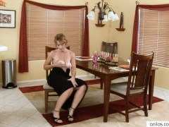 - Lonely wife gown grabbing