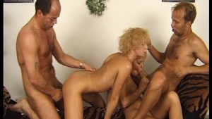 Two blondes moaning for dick