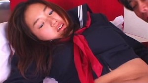 Cute Japanese coed fucked hard after school
