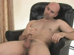 Baldy jerking it off  - Mavenhouse