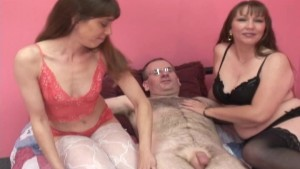 Lucky guy with two amateur women