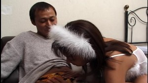 Angelic Asian blowjob