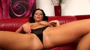 Brunette Christina is a voluptuous babe