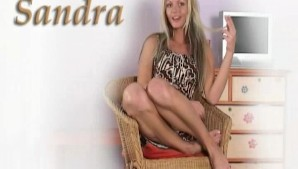 Horny Czech Sandra makes herself cum