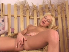 Cute blonde Pari masturbating