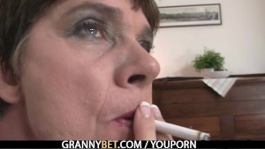Old mom enjoys riding hard cock