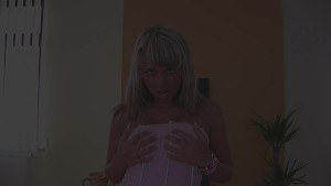 Christina plays with blue toy - CzechSuperStars