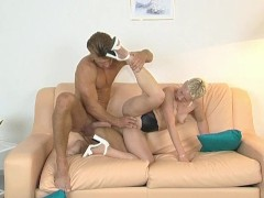 Shorthaired blonde gets fucked hard - Inferno Productions
