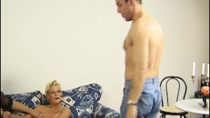 Two older blondes and a big cock - Inferno Productions