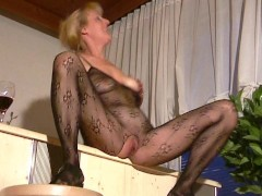 Picture Blonde mom shows off in pantyhose outfit - I...