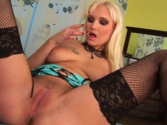 Lovely blonde Sharona solo - CzechSuperStars