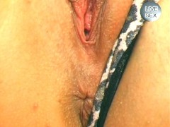 Picture Blonde plays with dildo and pees - Sascha Pr...