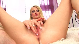Big dildo in Zlata's snatch - CzechSuperStars