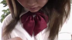 Dirty japanese schoolgirl gets fucked in uniform