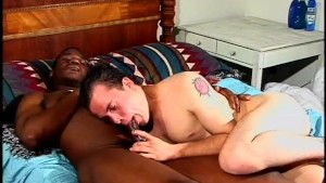 White boy gets a dose of big black cock - Black Wolf