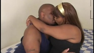 gorgeous black slut fucks with muscled ghetto ebony BBC