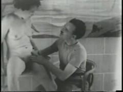 Old Time B&W Porno Scene - Gentlemens Video