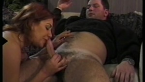 Hairy Brunette Rides a Nice Cock - Gentlemens Video