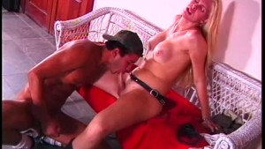Blonde tranny uses her boyfriends ass - Gentlemens Video