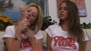 Sindee and Rachel suck cock