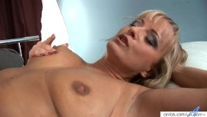 Cowgirl-style anal fuck