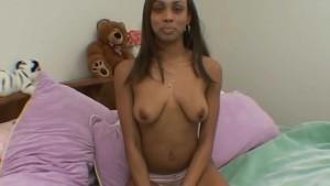 Ebony babe gets a facial