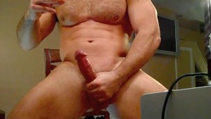 Smoking, Stroking, Leather muscle stud