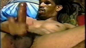 Huge black cock jerked