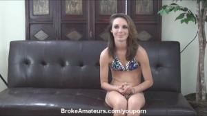 Skinny amateur girl anal and facial