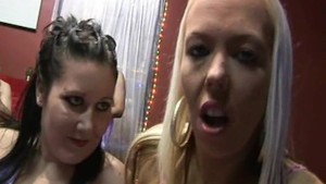 British babes Alyssa Leigh and Kaicee gangbanged