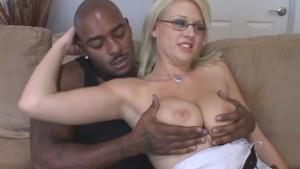 Cute Blonde Wifey Takes Black Lover