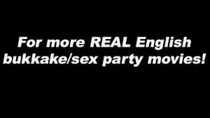 British Big chested pornstar Danni Sweet bukkake
