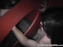 Amateur slut at the Adult Theater