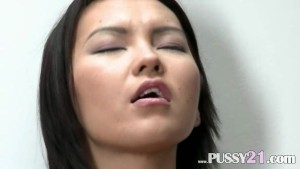 Mongolian coed with hairy pussy