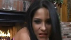 Deepthroating Latina fucked in pantyhose